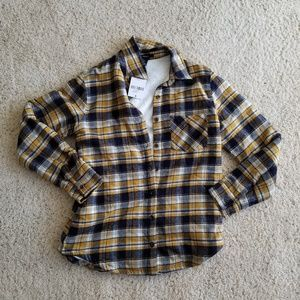 NWT sherpa lined plaid flannel jacket